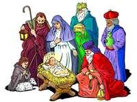 Święci trzej królowie przy żłobie