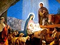 Peinture de la naissance de Jésus