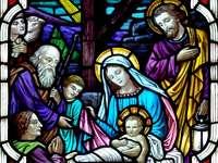 Kyrkofönster av Jesu födelse