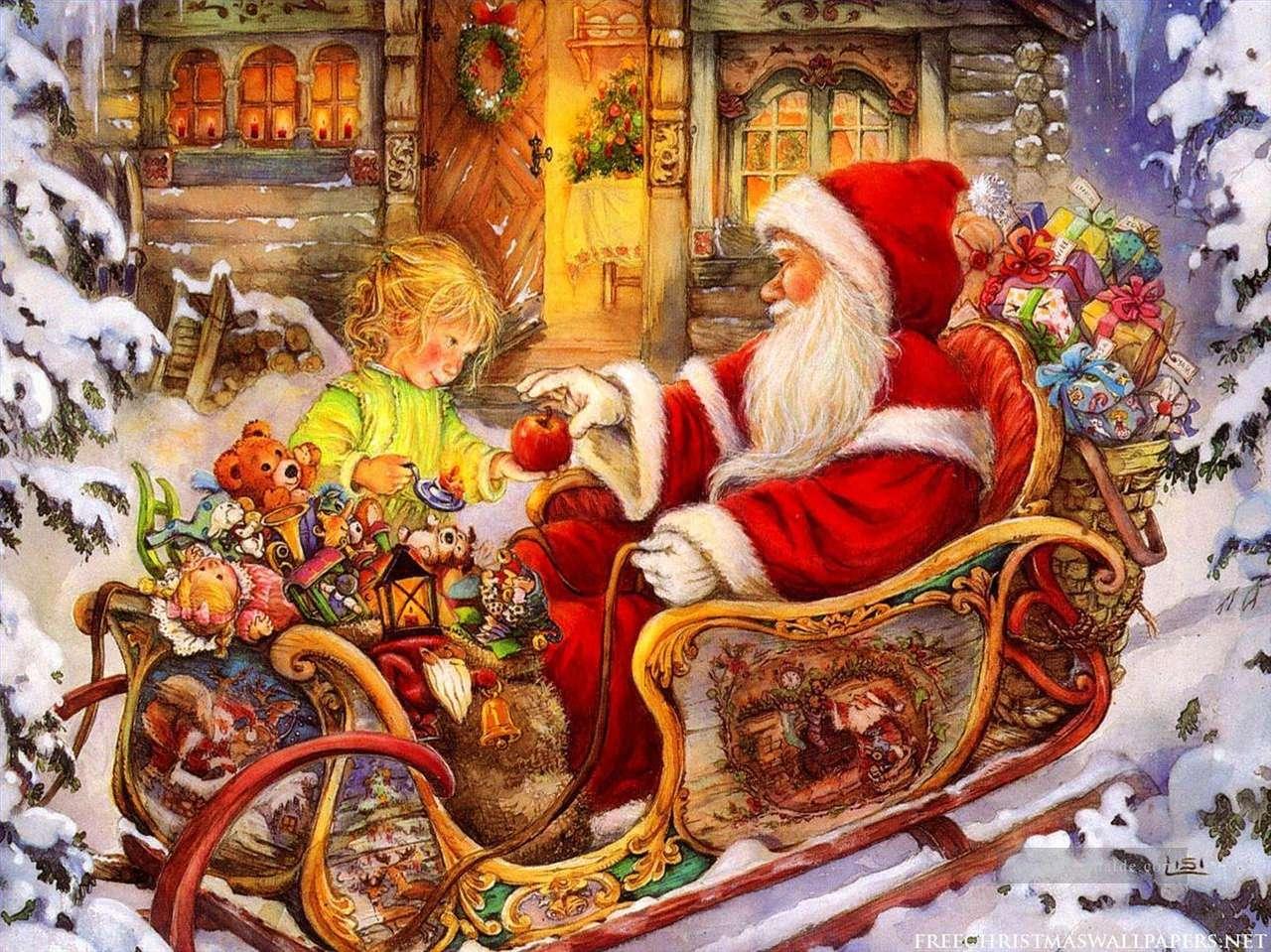 Peinture Santa Claus Christmas