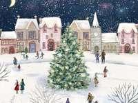 Pictând Crăciun în sat