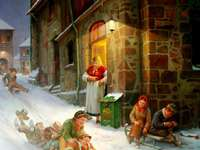 Peinture de Noël autrefois