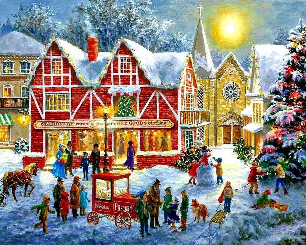Malování Vánoc ve městě (13×11)