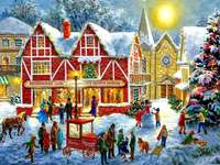 Рисуване на Коледа в града