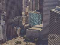 sokemeletes épületek madártávlatból történő fényképezése