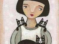 de tederheid van zwarte kittens