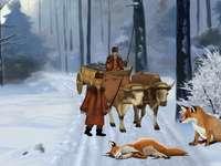 Poveste Ursul pacalit de vulpe