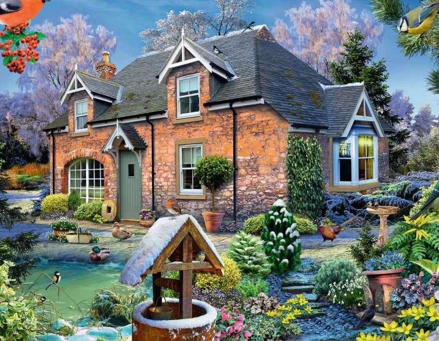 Ζωγραφική σπιτιού στη χώρα (15×12)