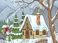 Téli festés