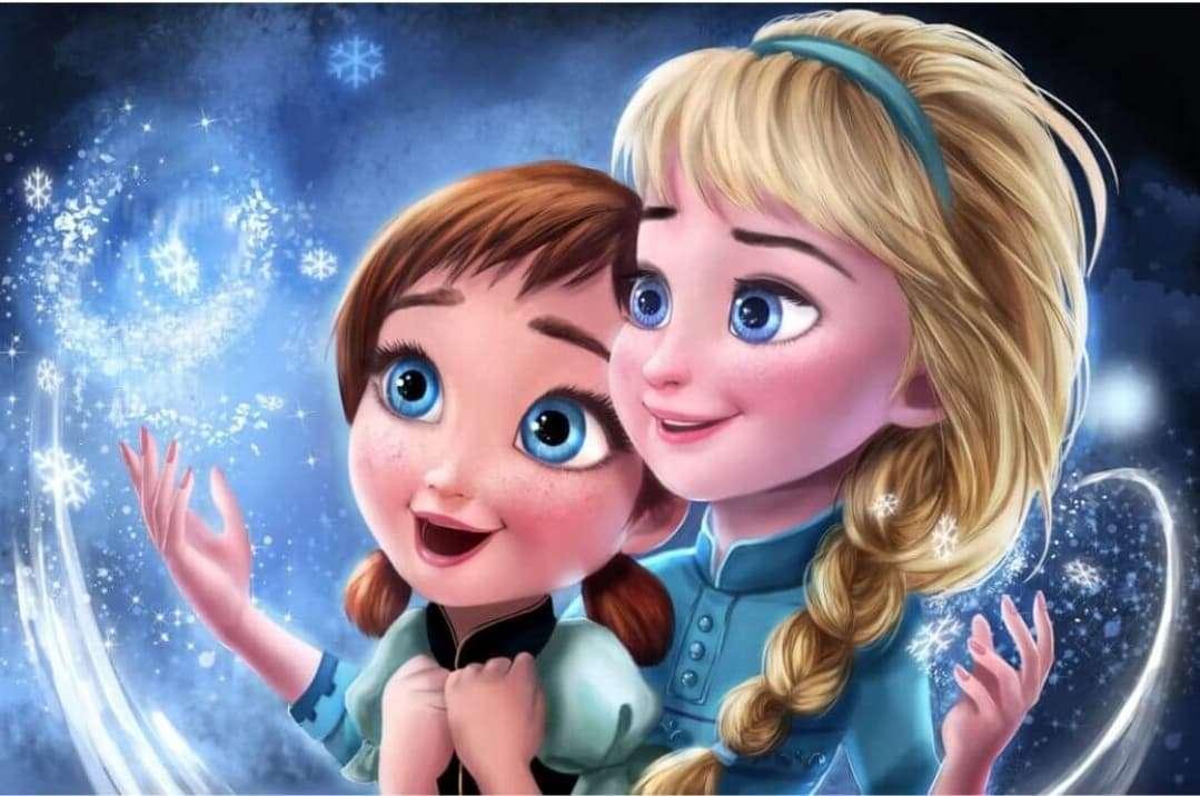 Anna en Elsa puzzel