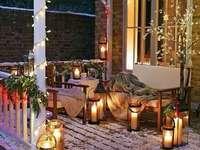 terrasse décorée pour les vacances