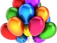 globos de colores para las vacaciones