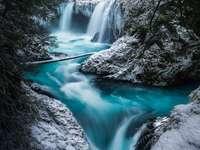 Vattenfall snö