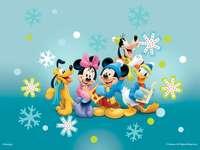 Mickey & Friends Winter Scene