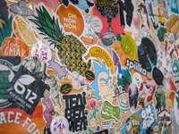 stickers in verschillende kleuren