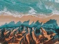rivage rocheux brun pendant la journée