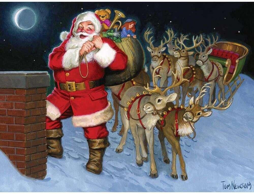 Karácsonyi varázslat kirakós játék