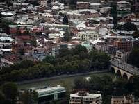 a légi felvétel a csatornára a városban