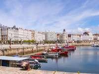 En Coruna stad i Spanien