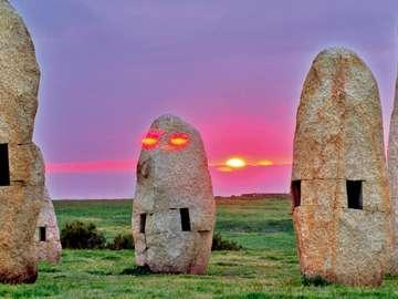 A Coruna kő emlékművek Spanyolországban