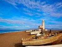 Praia de Almeria na Espanha