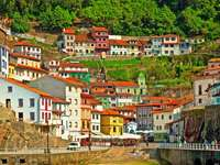 Cudillero city in Spain