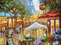 цветар на улицата в Париж