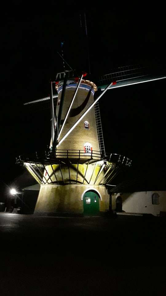 Molen De Zwaan Ouddorp - Mill De Zwaan en Ouddorp construido en 1846 para reemplazar un molino estándar previamente movido (6×11)
