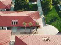 vue aérienne des maisons