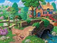 vacker dag på landsbygden