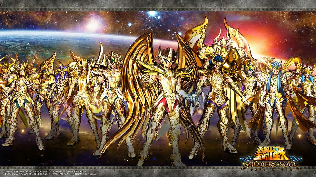 Άγιος Σέγια στρατιώτης ψυχή - Saint Seiya gold - Soldier soul - θεϊκή χρυσή πανοπλία (14×8)