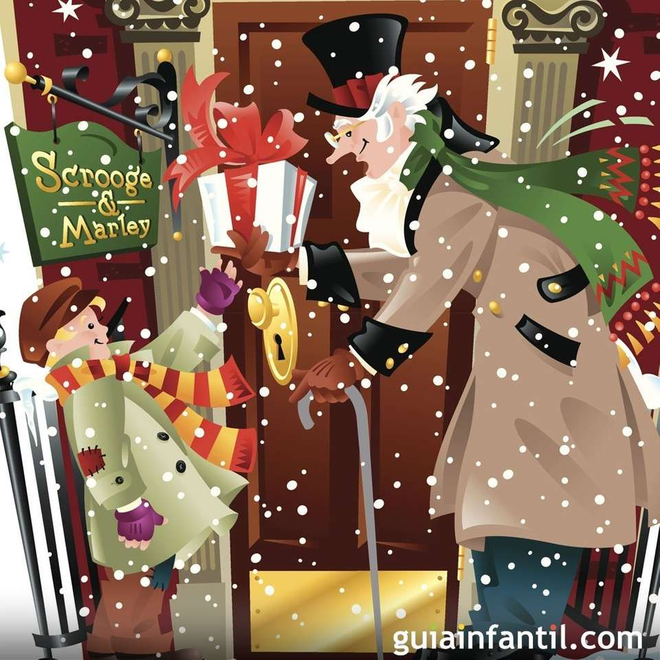 HOW MUCH CHRISTMAS - scrooge ghosts (8×8)