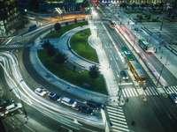 въздушна фотография на пътища