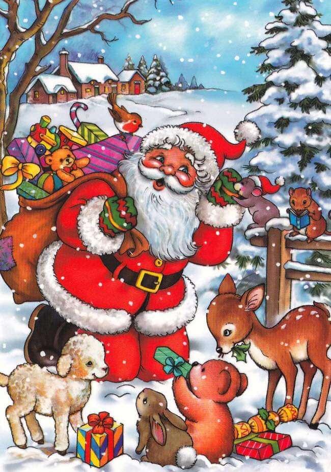 Moș Crăciun - Moș Crăciun aduce daruri tuturor (2×4)