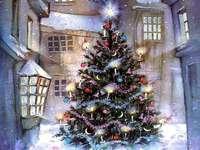 Puzzle avec arbre de Noël