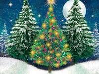 πάζλ, τρία χριστουγεννιάτικα δέντρα