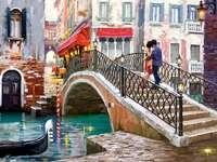En romantisk promenad RUND Venedig