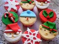 ozdoby  świąteczne na mufiny