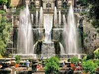 Villa with park and water fountains Italy