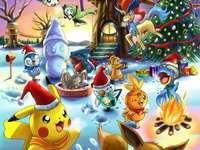Pokémon Puzzle Weihnachtslandschaft