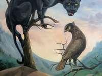Pantera i ptak