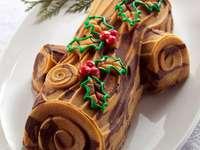 świąteczne ciasto - konar drzewa