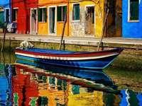 Цветни къщи Венеция