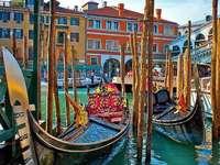 Venice gondolas on the Grande Canale