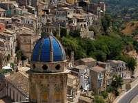 Ragusa stad på Sicilien