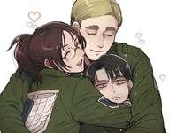 Hanji, Levi en Erwin