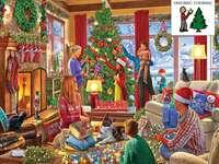 decorando árvore de natal