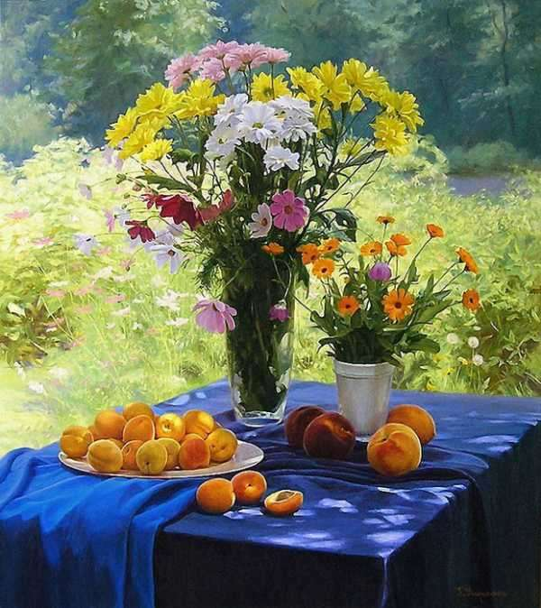 Colorful Flowers And Fruits (8×9)
