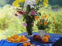 Colorful Flowers And Fruits