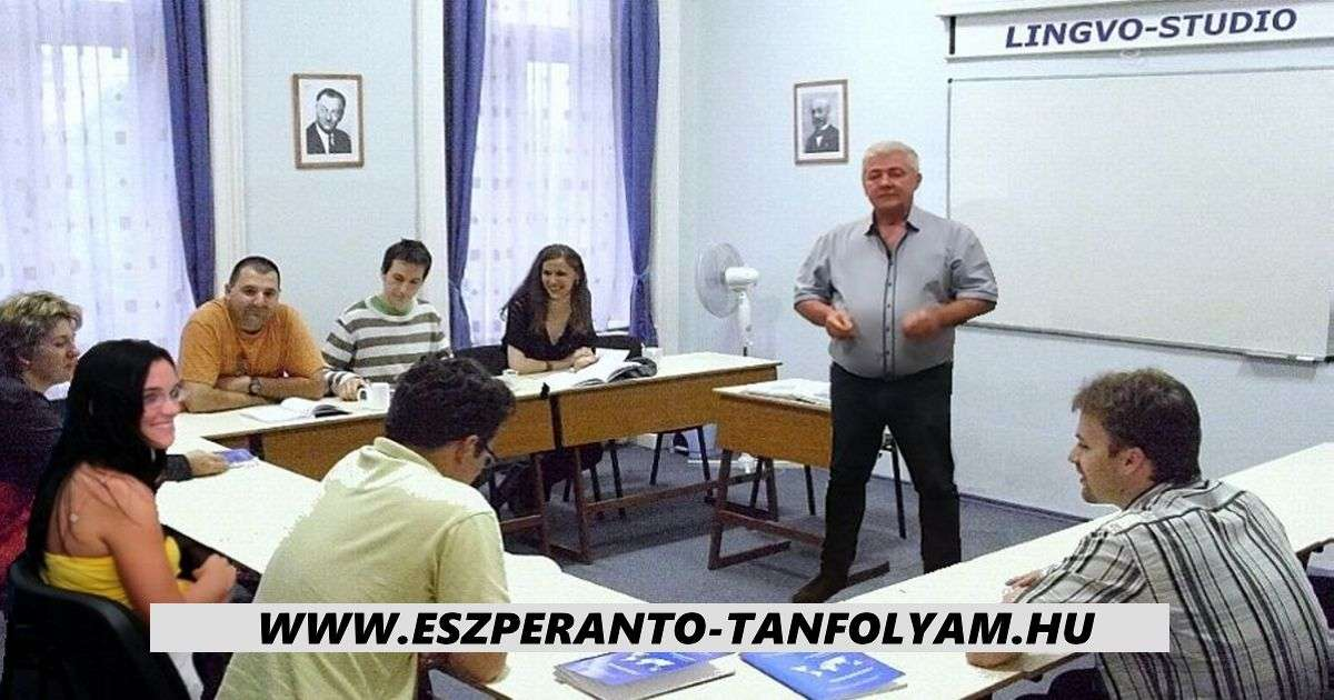 Esperanto course - Esperanto course - in the classroom, Lingvo-Studio (7×4)